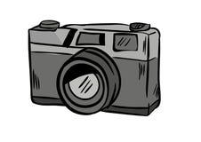 Vektor för kameraklottersymbol med vit bakgrund Arkivfoton