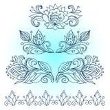 vektor för kantburma etnisk myanmar modell Konstverklinjen teckningar av den blom- prydnaden för annonsering av rabatter svarta f Royaltyfria Foton