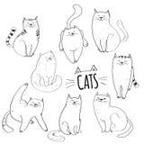 vektor för kattsamlingsillustration royaltyfri illustrationer