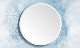 Vektor för knapp för vinterjul vit royaltyfri illustrationer