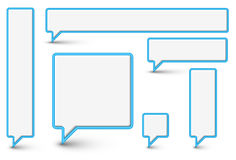 vektor för komisk plast- för bubblaoklarheter set stock illustrationer