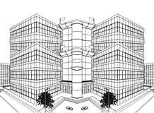 vektor för konstruktion för byggnad 10 modern Arkivfoto