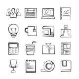 vektor för kontor för affärssymbolsillustration stock illustrationer