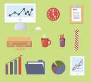 vektor för kontor för illustration för symboler för affärsdesign dig Arkivbilder