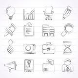 vektor för kontor för illustration för symboler för affärsdesign dig Royaltyfri Foto