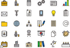 vektor för kontor för illustration för symboler för affärsdesign dig Royaltyfria Bilder