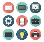 vektor för kontor för illustration för symboler för affärsdesign dig Arkivfoton