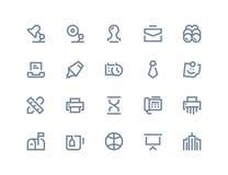 vektor för kontor för illustration för symboler för affärsdesign dig Linje serie vektor illustrationer