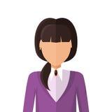 Vektor för kvinnateckenAvatar i plan design Royaltyfri Bild