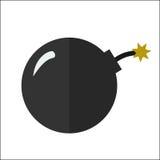 Vektor för lägenhet för kanonboll isolerad symbol Vektor Illustrationer