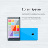Vektor för lägenhet för symbol för cellSmart telefon färgrik royaltyfri illustrationer
