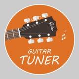 Vektor för lägenhet för gitarrstämmarelogo royaltyfri illustrationer
