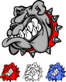 vektor för lag för bulldogglogomaskot royaltyfri illustrationer