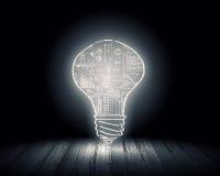 vektor för lampa för illustration för kulabegreppsidé Arkivbild