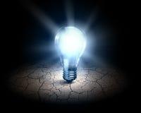 vektor för lampa för illustration för kulabegreppsidé Fotografering för Bildbyråer