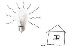 vektor för lampa för illustration för kulabegreppsidé Arkivbilder