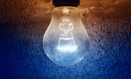 vektor för lampa för illustration för kulabegreppsidé Arkivfoto