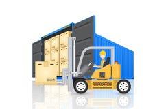 Vektor för lastbehållare Arkivfoton