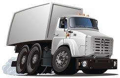 vektor för lastbil för lasttecknad filmleverans vektor illustrationer