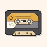 Vektor för ljudbandtemabeståndsdelar, eps stock illustrationer