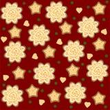 vektor för ljust rödbrun modell för jul seamless vektor illustrationer