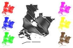 Vektor för Long Beach stadsöversikt royaltyfri illustrationer