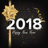 2018 vektor för lyckligt nytt år Julhälsningkort, affisch, broschyr, reklambladmalldesign Partibanerillustration Royaltyfria Foton