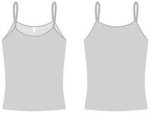 vektor för mall för damtoalettskjortaspagetti Royaltyfria Foton
