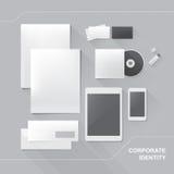 vektor för mall för identitet för illustrationsaffär företags Fotografering för Bildbyråer