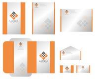vektor för mall för identitet för illustrationsaffär företags Arkivbilder