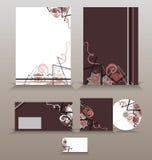 vektor för mall för identitet för illustrationsaffär företags Arkivbild