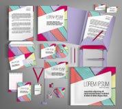 vektor för mall för identitet för illustrationsaffär företags Ställ in med färgrika designer Royaltyfria Foton