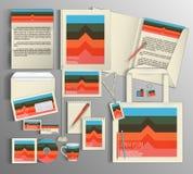 vektor för mall för identitet för illustrationsaffär företags Ställ in med färgrika designer Royaltyfri Foto