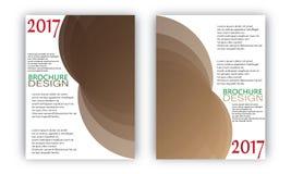 Vektor för mallar för design för reklambladbroschyrvåg Royaltyfri Bild