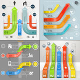 Vektor för marknadsföring för affär för Infographic pilströmkrets Royaltyfria Bilder