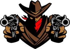 vektor för maskot för cowboyillustrationlogo Arkivbild