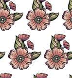 vektor för modell för färgblommaillustration vektor abstrakt blommor Arkivbild