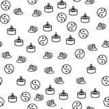 Vektor för modell för kinesiskt filosofisymbol sömlös royaltyfri illustrationer