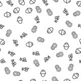 Vektor för modell för maskinerirobotteknik sömlös stock illustrationer