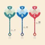 Vektor för modern design för nummer för Infographic baneruppsättning Royaltyfri Foto