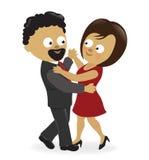 vektor för musikal för pardansillustration Royaltyfri Fotografi