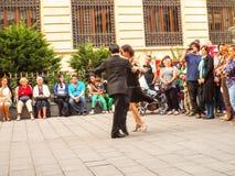vektor för musikal för pardansillustration Royaltyfri Foto