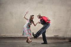 vektor för musikal för pardansillustration Arkivfoton