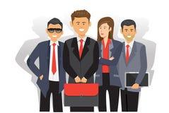 Vektor för nätverk för affärsfolk Vektor Illustrationer