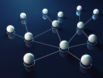vektor för nätverk för illustration för begreppsdesign Royaltyfri Bild