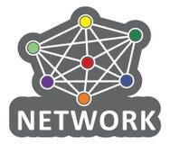 vektor för nätverk för illustration för begreppsdesign Arkivfoto