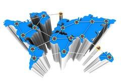 vektor för nätverk för illustration för begreppsdesign Arkivbilder