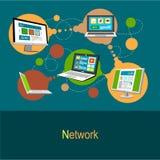 vektor för nätverk för illustration för begreppsdesign Royaltyfri Fotografi