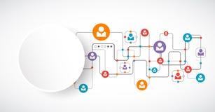 vektor för nätverk för illustration för begreppsdesign samla ihop kommunikationsbegreppskonversationer som har medelfolksamkväm Royaltyfria Foton