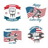 Vektor för nationell ferie för arbets- dag för Förenta staterna vektor illustrationer